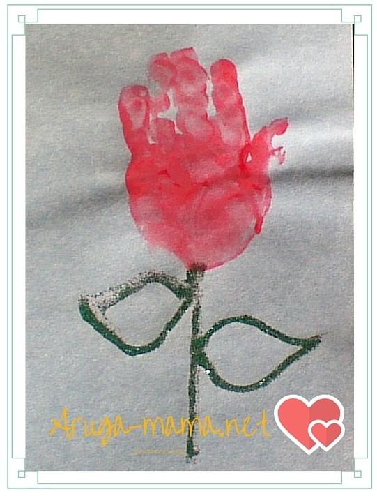 カーネーション手形アート