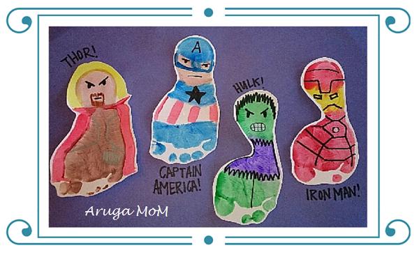 手形足型アート。Avengers