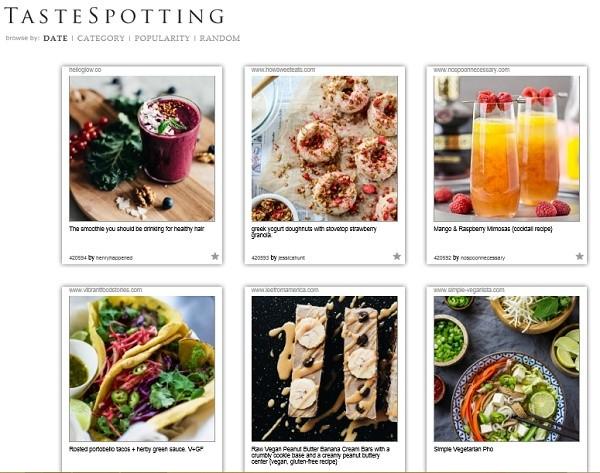海外・アメリカのレシピ投稿サイトTastespotting