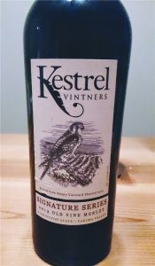ワシントン州のワイナリーの一つKestrelの赤ワイン。しっかりした味で好きです。