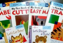 幼児の家庭学習にアメリカでくもん式のワークブックを買いました。3歳の息子が楽しんでやっているワークブックと母親の私が息子にちょうどいいかな?と思うおすすめのワークブック2冊を紹介します。