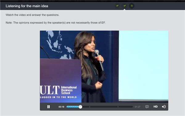 EF English Liveのビジネス英語のビデオ教材