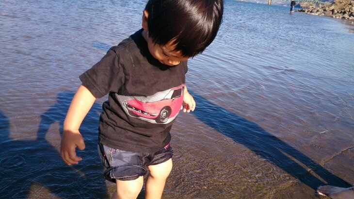 Port of Hood Riverのビーチ。マウントフード近くの観光、子ども連れアメリカ旅行、オレゴン、ポートランド