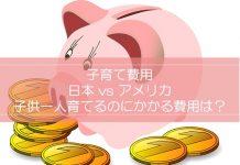 子育て費用。アメリカと日本。