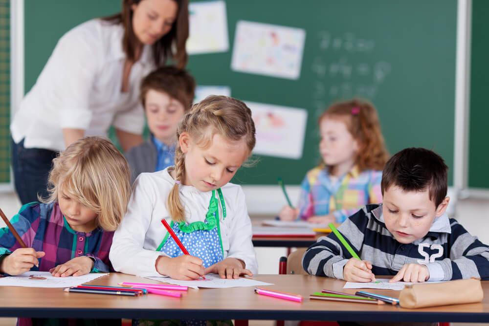 アメリカのkindergartenのクラスの様子