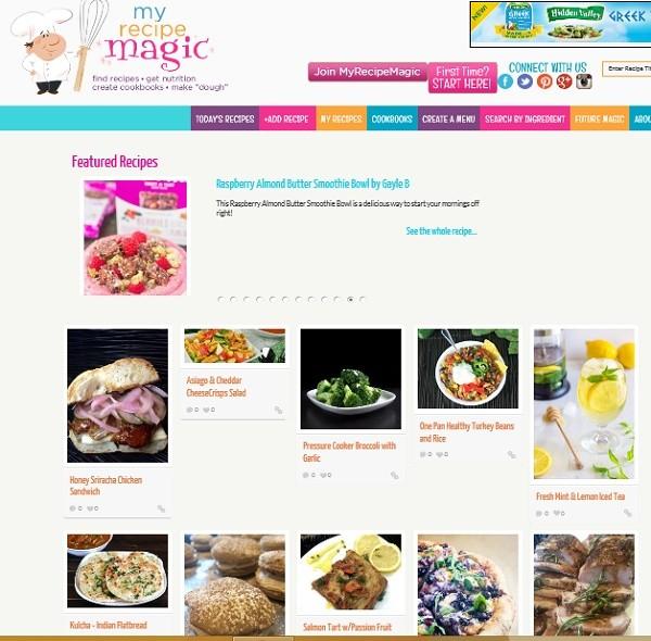 海外・アメリカのレシピ投稿サイトMy Recipe Magic