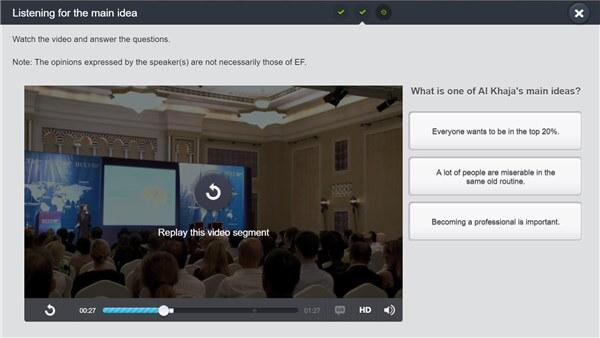 EF English Liveのビデオ教材