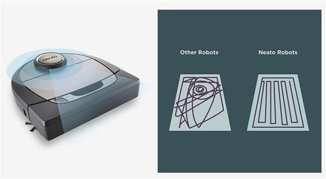 おすすめお掃除ロボットNEATOの動き方。センサーで一を確認しながら動く。