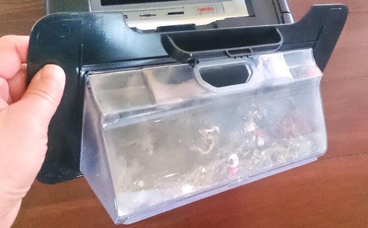 お掃除ロボットNEATOのダストボックス