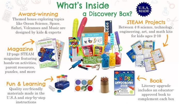 海外の子ども、幼児向けの通信教育教材 実験系のGreen Kid Craft