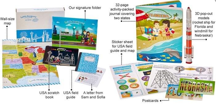 アメリカの子ども向け通信教育教材 アメリカの州を勉強するLittle Passport