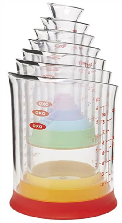 アメリカのキッチン用品。OXOのスタッキングメジャーカップ