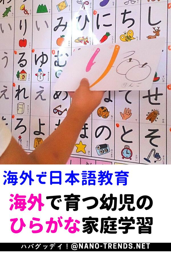 海外で日本語教育。海外で育つ子どものひらがな家庭学習方法