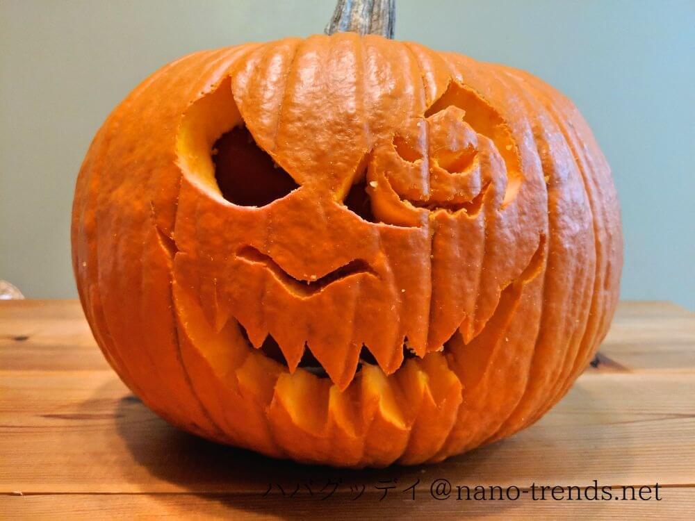 ハローウィンのかぼちゃの作り方。完成品