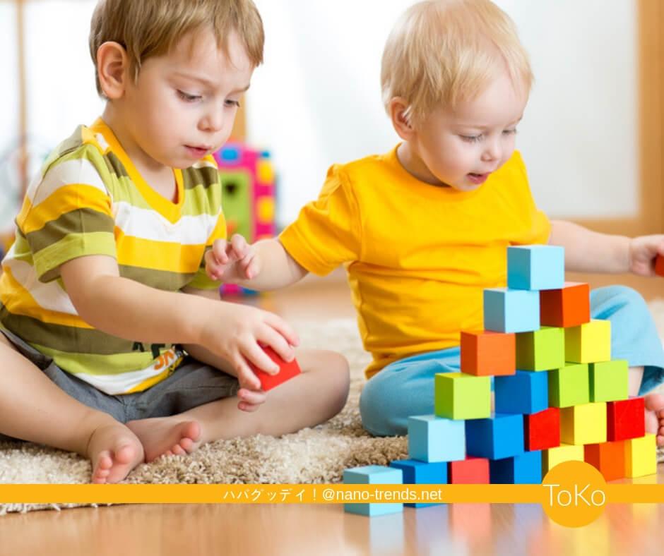 おすすめの知育ブロックで遊ぶ男の子